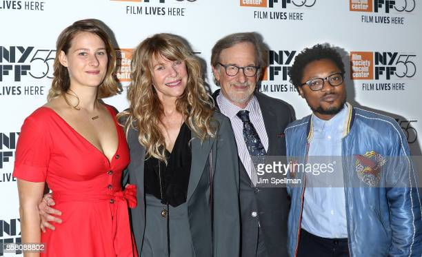 Destry Allyn Spielberg actress Kate Capshaw director Steven Spielberg and Theo Spielberg attend the 55th New York Film Festival 'Spielberg' premiere...