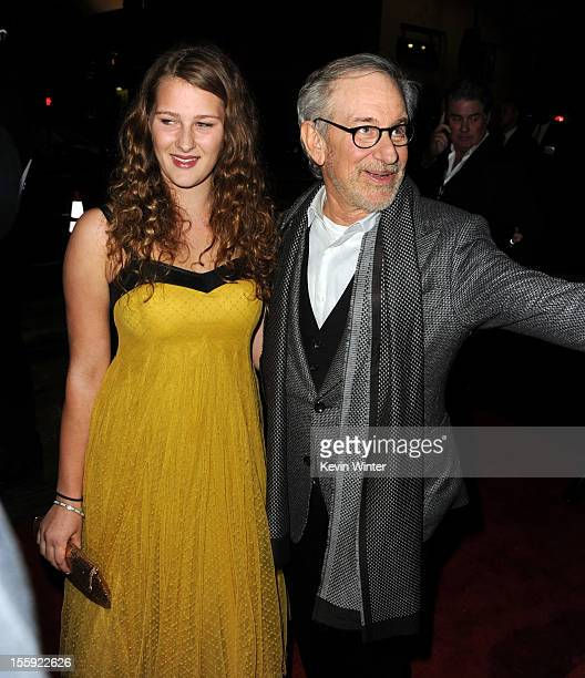 Destry Allyn Spielberg and director Steven Spielberg arrive at the Lincoln premiere during AFI Fest 2012 presented by Audi at Grauman's Chinese...