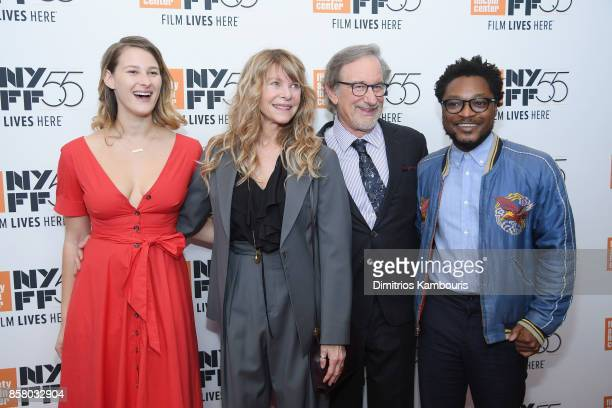 Destry Allyn Spielberg Kate Capshaw Steven Spielberg and Theo Spielberg attend 55th New York Film Festival screening of Spielberg at Alice Tully Hall...