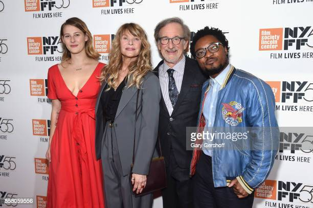 Destry Allyn Spielberg Kate Capshaw Steven Spielberg and Theo Spielberg attend the screening of Spielberg during the 55th New York Film Festival at...