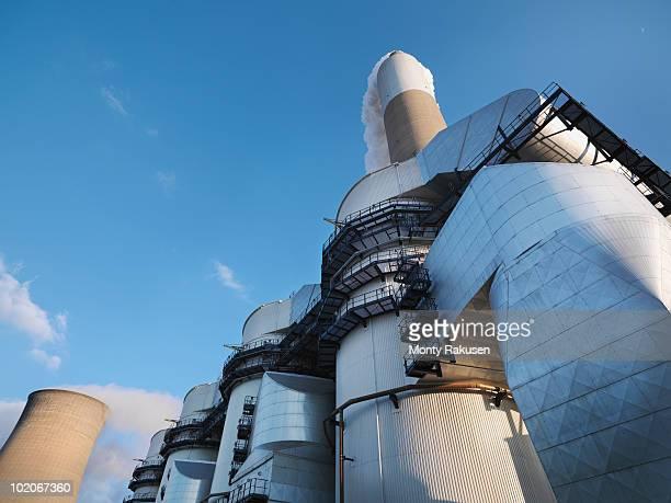 desulphurisation plant at power station - monty rakusen stock-fotos und bilder