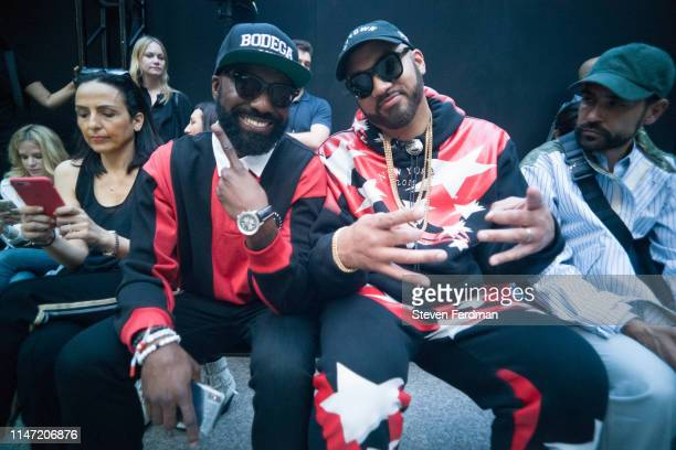 Desus and Mero attend the Alexander Wang Collection 1 fashion show at Rockefeller Center on May 31 2019 in New York City