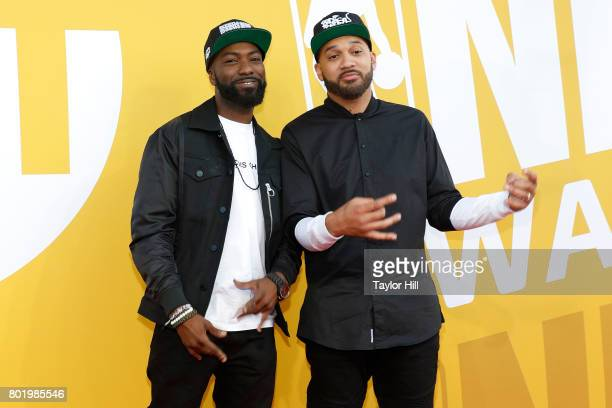 Desus and The Kid Mero attend the 2017 NBA Awards at Basketball City Pier 36 South Street on June 26 2017 in New York City