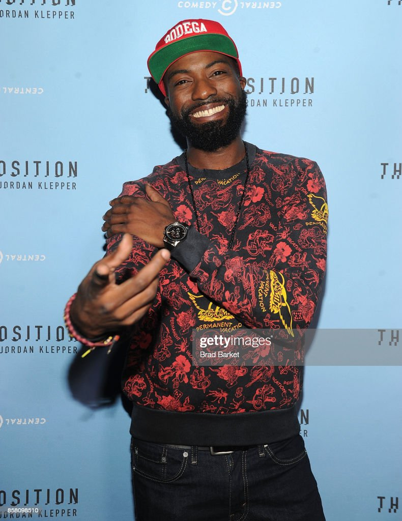 Desus Nice attends Comedy Central's 'The Opposition w/ Jordan Klepper' premiere party at The Skylark on October 5, 2017 in New York City.