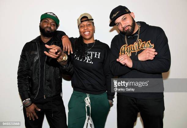 Desus Nice Lena Waithe and The Kid Mero attend the FYC Event for VICELAND's DESUS MERO at Saban Media Center on April 20 2018 in North Hollywood...