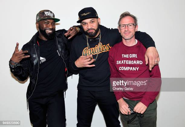 Desus Nice The Kid Mero and Spike Jonze attend the FYC Event for VICELAND's DESUS MERO at Saban Media Center on April 20 2018 in North Hollywood...