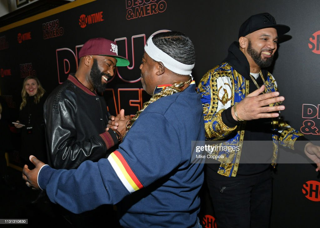 Desus Nice, Tracy Morgan, and The Kid Mero attend Showtime's