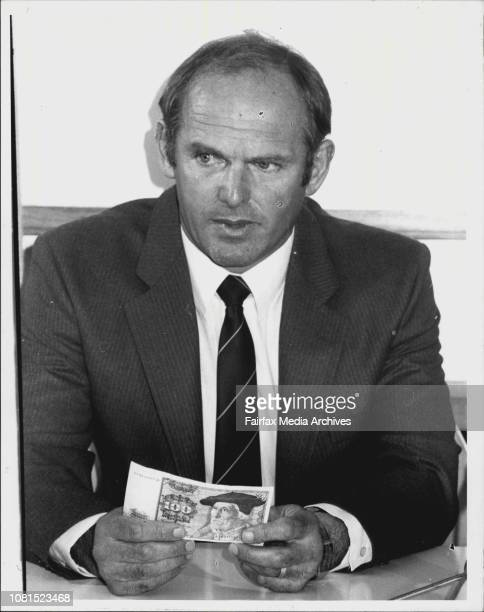 Det Sgt Nelson Chad of the State Fraud Squad of the Federal Police tell of the German Currency counterfeit bust early today September 12 1984