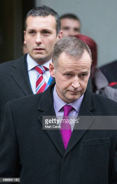 Det Supt Mike Courtiour, from Avon and Somerset Police leaves Bristol Crown Court on November 13, 2015 in Bristol, England. Nathan Matthews was found...