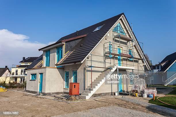 Einfamilienhaus-Baustelle