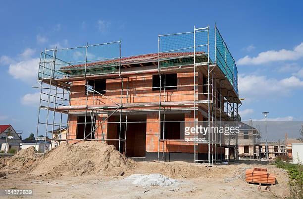 Detached house - construction site
