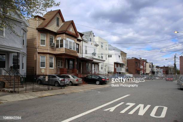 detached houses in jersey city, new jersey, usa - new jersey stock pictures, royalty-free photos & images