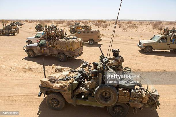 A detachment of French Special Forces patrols with Chadian forces on each mission Its role is to coordinate operations with Major operations Serval...