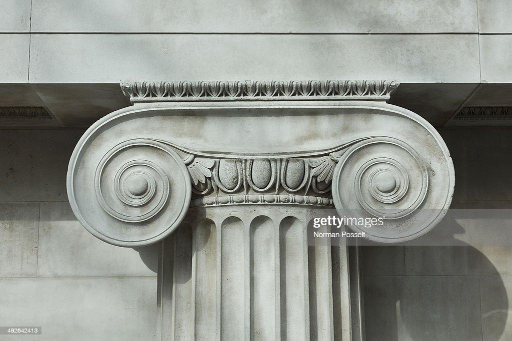 Detail an ionic column : Stock Photo
