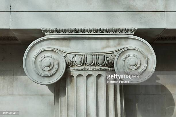 detail an ionic column - classical greek style stock pictures, royalty-free photos & images