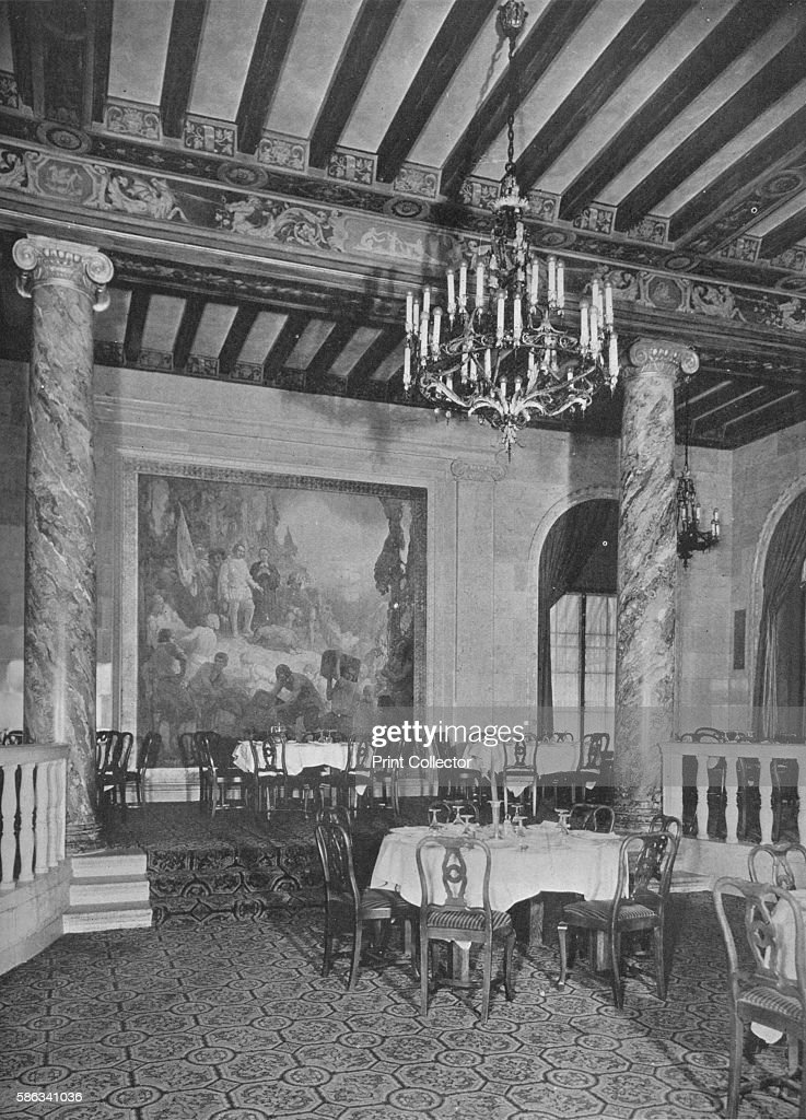 Detail At End Of Main Dining Room Mount Royal Hotel Montreal Canada