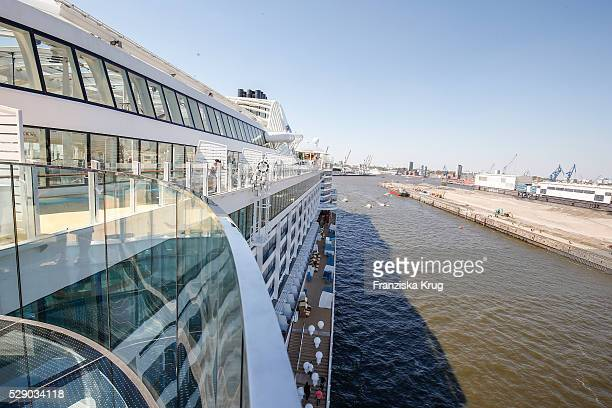 A detail at the AIDAprima Cruise Ship Baptism on May 7 2016 in Hamburg Germany
