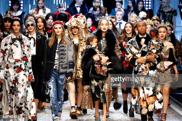 A detail at the Dolce Gabbana show during Milan Fashion Week Fall/Winter 2017/18 on February 26 2017 in Milan Italy