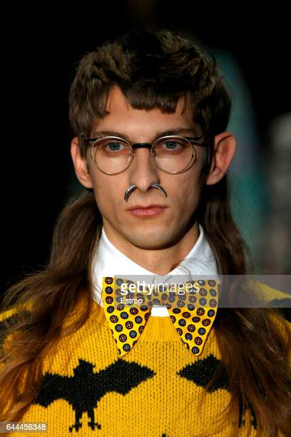 A detail at the Gucci show during Milan Fashion Week Fall/Winter 2017/18 on February 22 2017 in Milan Italy