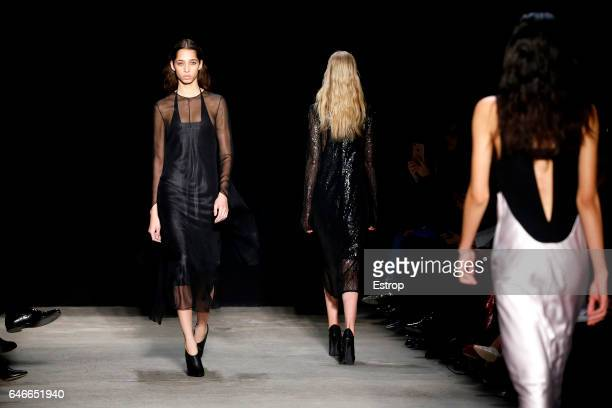 A detail at the Narciso Rodriguez show during the New York Fashion Week February 2017 collections on February 14 2017 in New York City