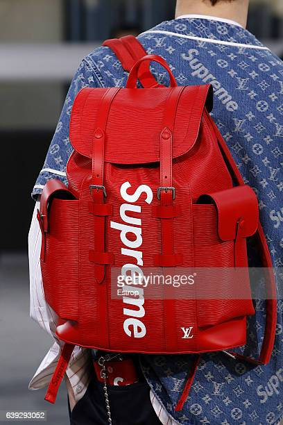 A detail at the runway during the Louis Vuitton Menswear Fall/Winter 20172018 show as part of Paris Fashion Week on January 19 2017 in Paris France