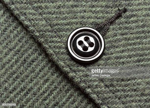 Detail Button on Wool Coat