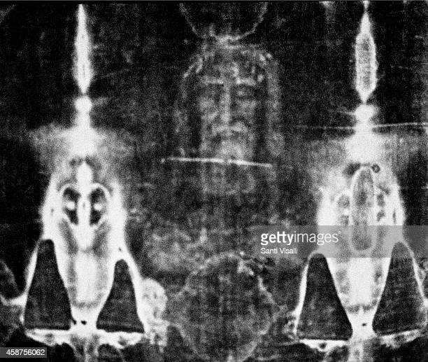 Detail copy of the Shroud of Turin on October 11 1981 in Cambridge Massachusetts
