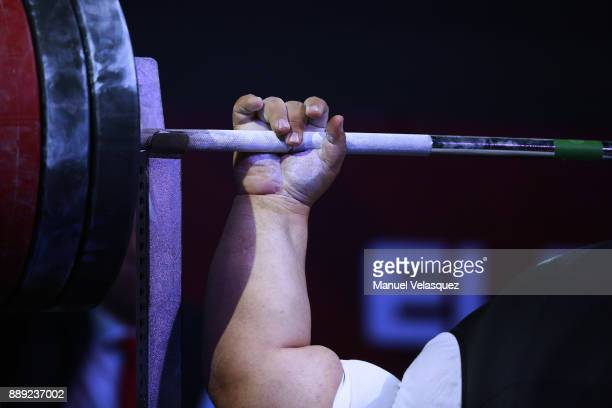 Detail during the Men's Over to 107 Kg Group A Category as part of the World Para Powerlifting Championship Mexico 2016 at Juan de la Barrera Olympic...
