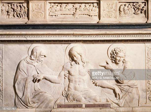 Detail from a basrelief from an altar by Andrea Del Sansovino St Mary of the Holy Spirit Florence Italy 15th century