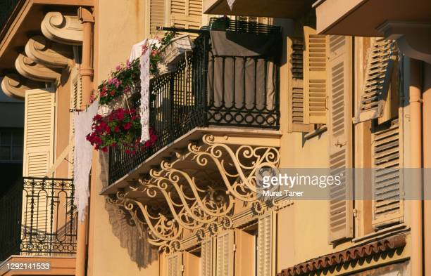 detail from a building in monte carlo - monte carlo stock pictures, royalty-free photos & images