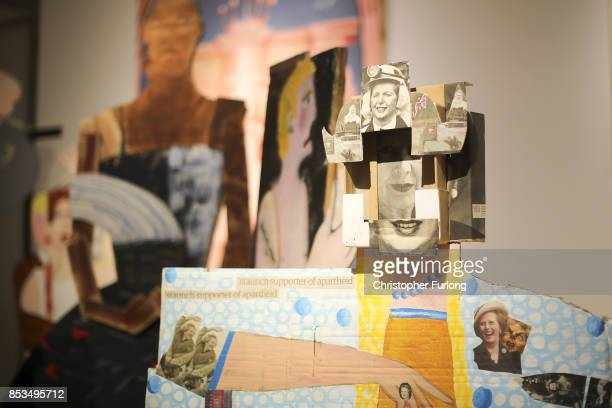 A detail from A Fashionable Marriage by Lubaina Himid during a press preview for the 2017 Turner Prize at The Ferens Art Gallery on September 25 2017...