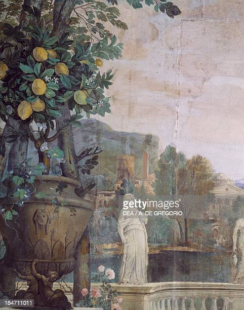 Detail from a fresco by Carlo Maratta and Ciro Ferri in the Spring Hall at Villa Falconieri La Rufina, Frascati. Italy, 17th century.