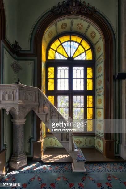 detail from a mosque interior on a sunny day,izmir. - emreturanphoto stock pictures, royalty-free photos & images
