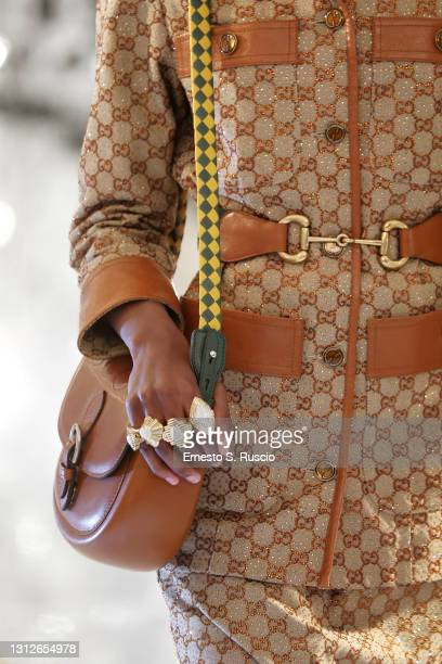 Detail from Gucci Aria collection on April 15, 2021 in Rome, Italy.