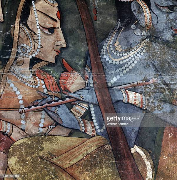 A detail from one of the legends of Krishna Krishna's flute would entrance the gopis prompting them to dance with him in the forest His favourite...