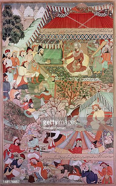 Detail from the 14th century Persian story 'The History of the Mongols' Illustration of the 'Chronicle of Genghiz Khan in the years 1193 1203 Genghiz...
