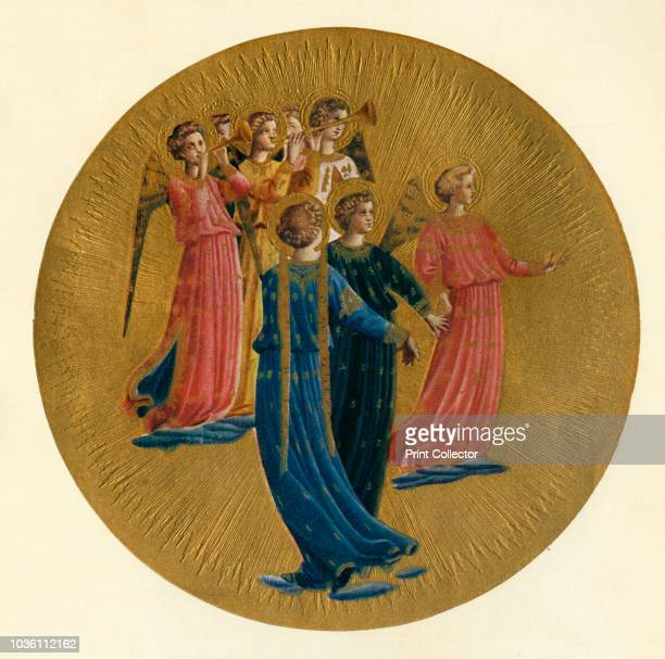 Detail from the Coronation of the Virgin', 15th century, . Italian Early Renaissance painter Fra Angelico was a Dominican friar , and carried out...