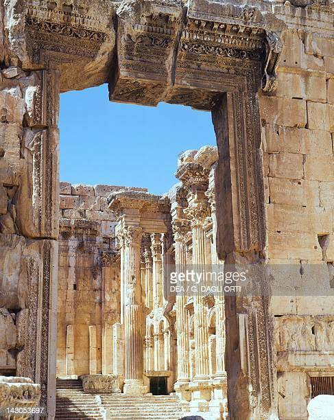 Detail from the Doorway of the Temple of Bacchus dedicated to VenusAstarte in Baalbek or Heliopolis Lebanon 2nd Century