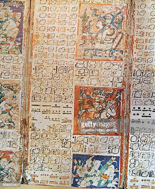 Detail from the Dresden Codex A preColumbian Maya book of the 11th Century of the Yucatecan Maya in Chichén Itzá