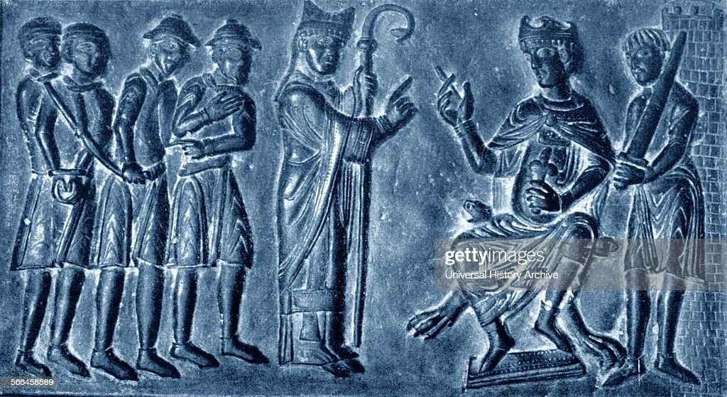 Detail from the Gniezno Cathedral Door showing Saint Adalbertus liberating Slavic slaves from the & Gniezno Cathedral Door. Pictures | Getty Images