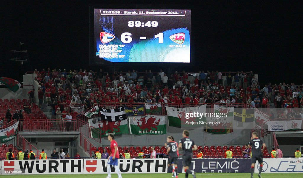 Serbia v Wales  - FIFA 2014 World Cup Qualifier : News Photo