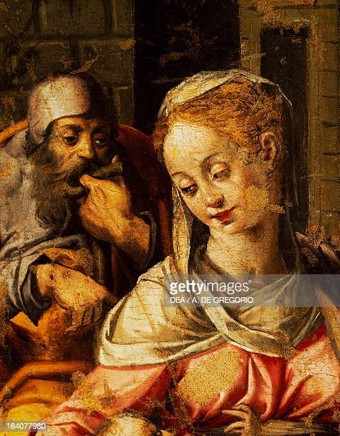 Detail from the Nativity painting by a 15th century Sardinian master Ploaghe Pinacoteca Giovanni Spano