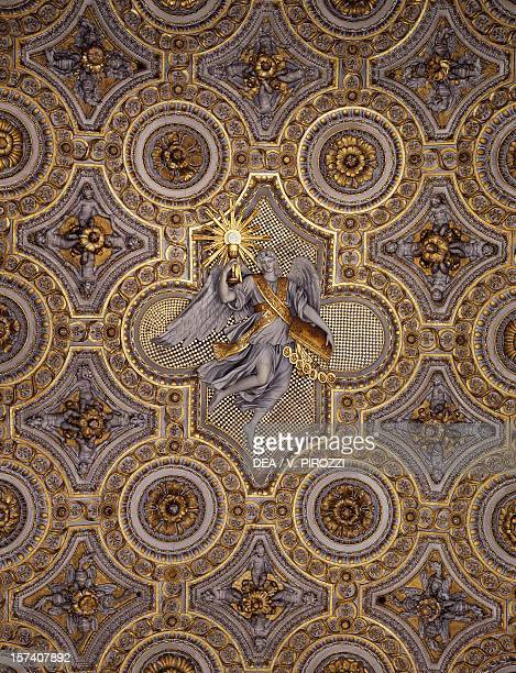 Detail from the stucco decoration from the vault of Pauline Chapel Apostolic Palace Vatican City Rome Italy 17th century