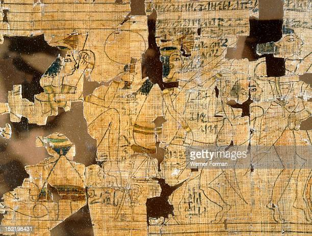 A detail from the Turin Papyrus which depicts scenes of prostitutes their clients and various love making positions This is the famous detail of the...