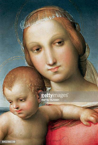 Detail from Virgin and Child Attributed to Raphael