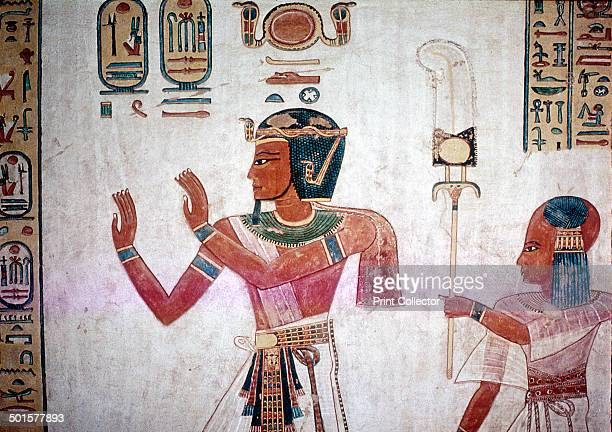 Detail from Wallpainting of Rameses III leading his deceased son to the gods, Valley of the Queens, Luxor, Egypt, c12th century BC. The wallpainting...