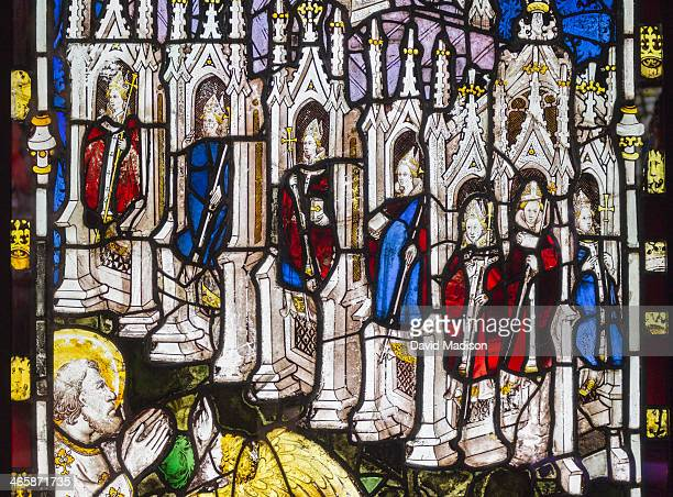 detail great east window, york minster. - york minster stock photos and pictures