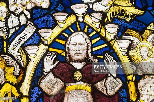 detail, great east window, york minster. - york minster stock pictures, royalty-free photos & images