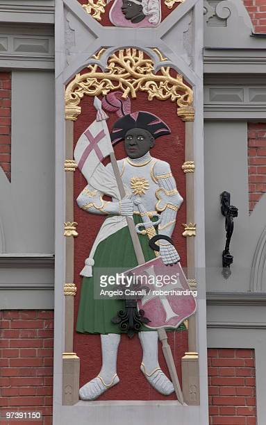 Detail, House of the Blackheads (Melngalvju Nams), Town Hall Square (Ratslaukums), Riga, Latvia, Baltic States, Europe