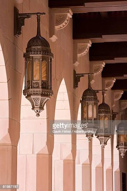 Detail in Al-Ghubrah or Grand Mosque, Muscat, Oman, Middle East